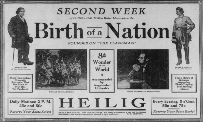 Birth of a nation advert
