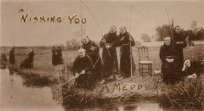 Edwardian Monks Wishing you A Merry Christmas