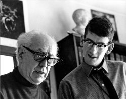 Abel Gance and a young Kevin Brownlow