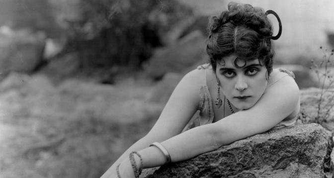 Publicity still of Theda Bara for Raoul Walsh's now lost Carmen (1915)