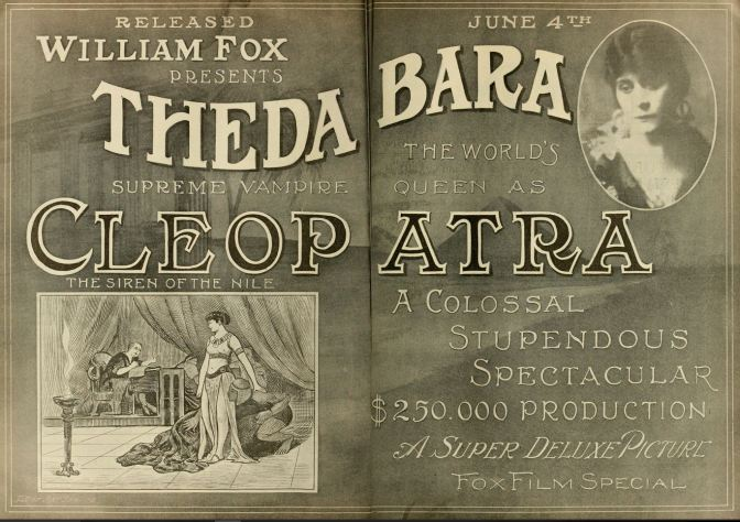 Publicity for Bara's now lost Cleopatra (1917)